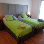 Lit 180 ou 2 lits 90 de la Chambre Forêt de la Grange du Coulin à Onesse et Laharie