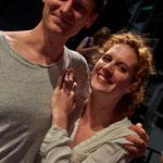 Christian Löber (Preisträger 2015) und Julia Riedler