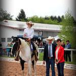 """""""Einsteiger Western Horsemanship"""" Siegerin Anja Finkenwirth mit Tara"""