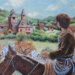 雰囲気を頂き数枚のラフ画から選んでいただき油絵にしました。オーダー品