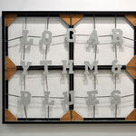 'untitled (Logarythm & Blues)', 127 x 157 x 7 cm, 2011