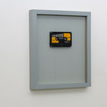 'untitled (Crescendo)', music cassette in hand crafted-/painted frame with leaf silver, 27,5 x 32,5 cm, 2009