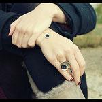 Ensemble Bracelet et bague De fil en aiguille - Argent premier titre et textile