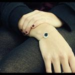 Bracelet De fil en aiguille - Argent premier titre et textile