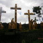 黄金に輝くキリスト像
