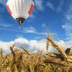 Ballongondel Flugbestattung
