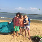 Kitesurf with friends