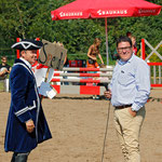 Unser Moderator Hendrik Falk unterhält sich mit unserem Bürgermeister André Stahl
