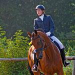 Britta zeigt uns mit Roy das deutsche Sportpferd