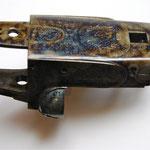 Jaspage à la boite sur bascule fusil juxtaposé Gastine Renette