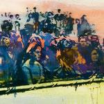 Publikum, 1988, Mischtechnik/LW, 160 x 120 cm