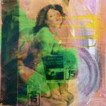 Le Cascadeur, 1991, Mischt./Fotoemulsion/LW, 100 x 100 cm