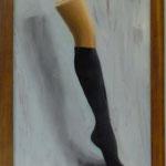 Socke, 2001, Hgl, 45 x 64 cm, 320,-€