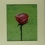 Rose , 2007, Hinterglasmalerei auf Industrieglas, 44 x 50 cm, 150,-€