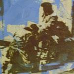 Shoe Shine, Ölpapier,1988, 50 x 70 cm