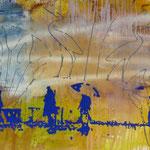 Ägyptische Wanderer, 1994, Mischt./LW, 160 x 120 cm