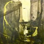 Ordnung machen, 1991, Mischt./Fotoemulsion/LW, 100 x 100 cm