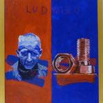"""Ludwig, 1991, Hgl, 43 x53 cm, 280,-€, Aus der Serie """"Freunde und Bekannte"""""""