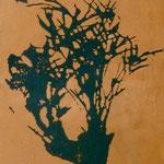 Topfpflanze, 1993, Öl/LW, 60 x 70 cm, Privatbsitz