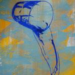Schwall, 2008, Mischtechnik/LW, 120 x 160 cm, 1.300,--€