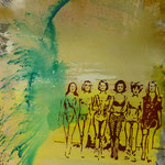 Girls,1996, Mischt./LW, 120 x 160 cm