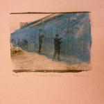 Mauerspechte, 1991, Fotoemulsion auf Papier. cva. 40 x 50 cm