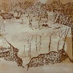 Tisch, , gedeckt, 2008, Mischt, /LW, 87 x 120 cm