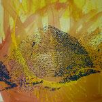 Sonnenspeicher, 1994, Mischtechnik/LW, 120 x 160 cm, 1.300,--€