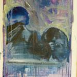 Sie wollten unerkannt bleiben, Ölpapier, 1989, 81 x 107 cm