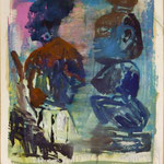 O.T., Ölpapier, 1989, 80 x 108 cm