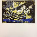 O.T., Farblinol, 1986, ca. 40 x 50 cm, noch 7