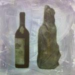 Wissen und Vermutung, DGN, 1992, Mischt./Fotoemulsion/LW, 100 x 100 cm, 700,--€