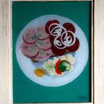 Schlachtplatte, 2010, Hgl, 47 x 57 cm, 300,-€