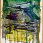 Sax/Pistole, Ölpapier, 1988, 53 x 70 cm