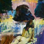 Cala Deya, 1987,  Öl/lw, 77 x 97 cm, 500