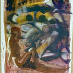 O.T., Ölpapier, 1988, 64 x 89 cm