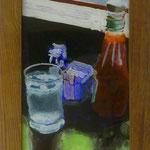 Ketchup, Eiswasser, 2001, Hgl, 26x50 cm, 100,-€