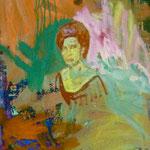 Schöne Frau, 1989,Mischt./LW, 50 x 88 cm
