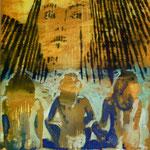 O.T., Ölpapier, 1988, 52 x 68 cm