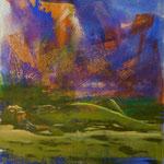 Aktlandschaft, 1988, Mischt./LW, 120 x 150 cm