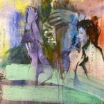 Applaus, Applaus,Applaus, 1988, Mischt./LW, 120 x 150 cm, 1.100,--€