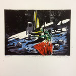 Moondance, Farblinol, 1986, ca. 40 x 50 cm, noch 3