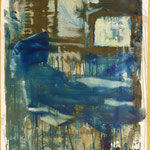 TV - Zimmer, Ölpapier, 1988, 67 x 90 cm