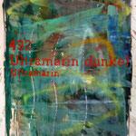 """Aus der Serie """"Falsche Briefe"""": Ultramarin Dunkel, 1989, 79 x 107 cm, Bütten"""