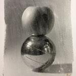 O.T., Fotoemulsion auf Aquarellpapier, 50 x 65 cm, 2014