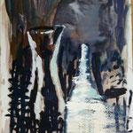 Karaffe, Ölpapier, 1988, 87 x 125 cm
