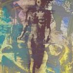 Laufende Figur, Ölpapier, 1993, Ölpapier, 50 x 70 cm