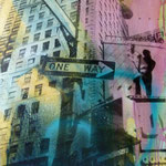 One Way, 1991, Fotomulsion/LW, 70 x 100 cm, 450,--€