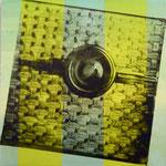 Magisches Auge, DGN, 1992, Mischt./Fotoemulsion/LW, 100 x 100 cm