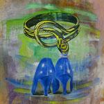 Blue Pumps, 1992, Mischtechnik/LW, 130 x 170 cm